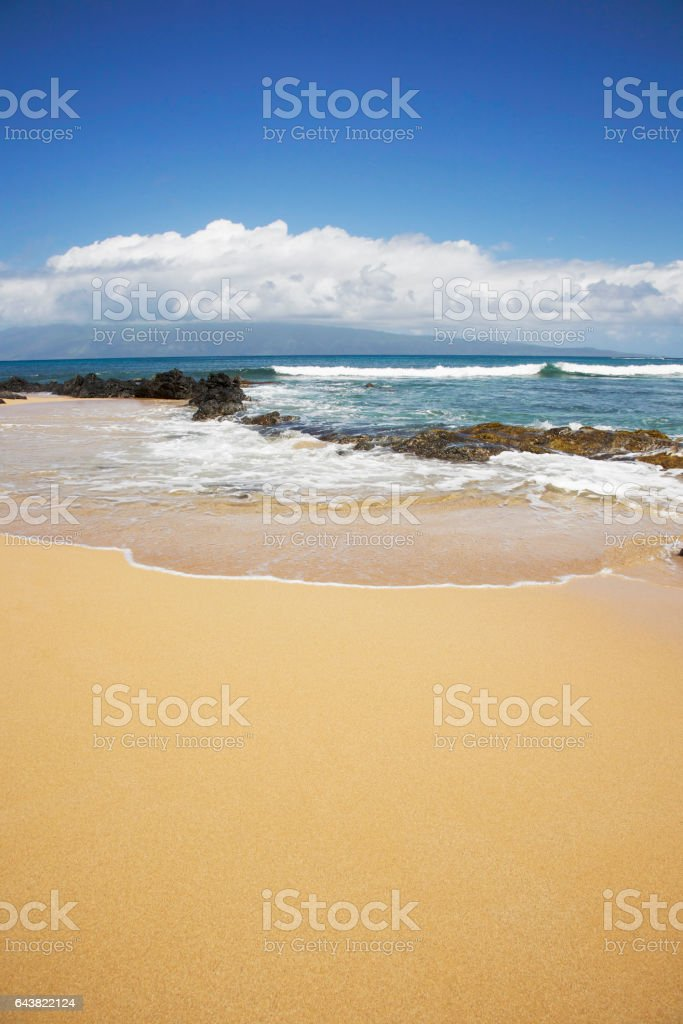 Maui beach. stock photo