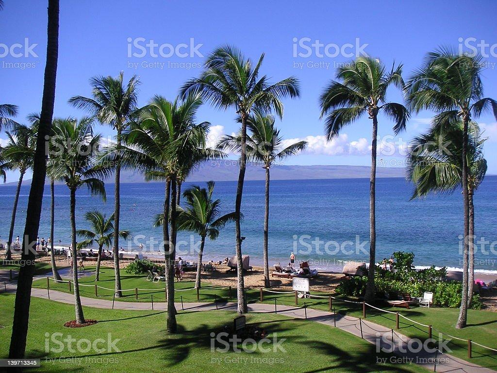 Maui Beach View royalty-free stock photo