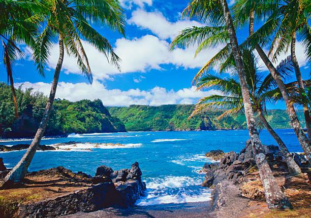 Maui Coastline, Hawaii Islands stock photo