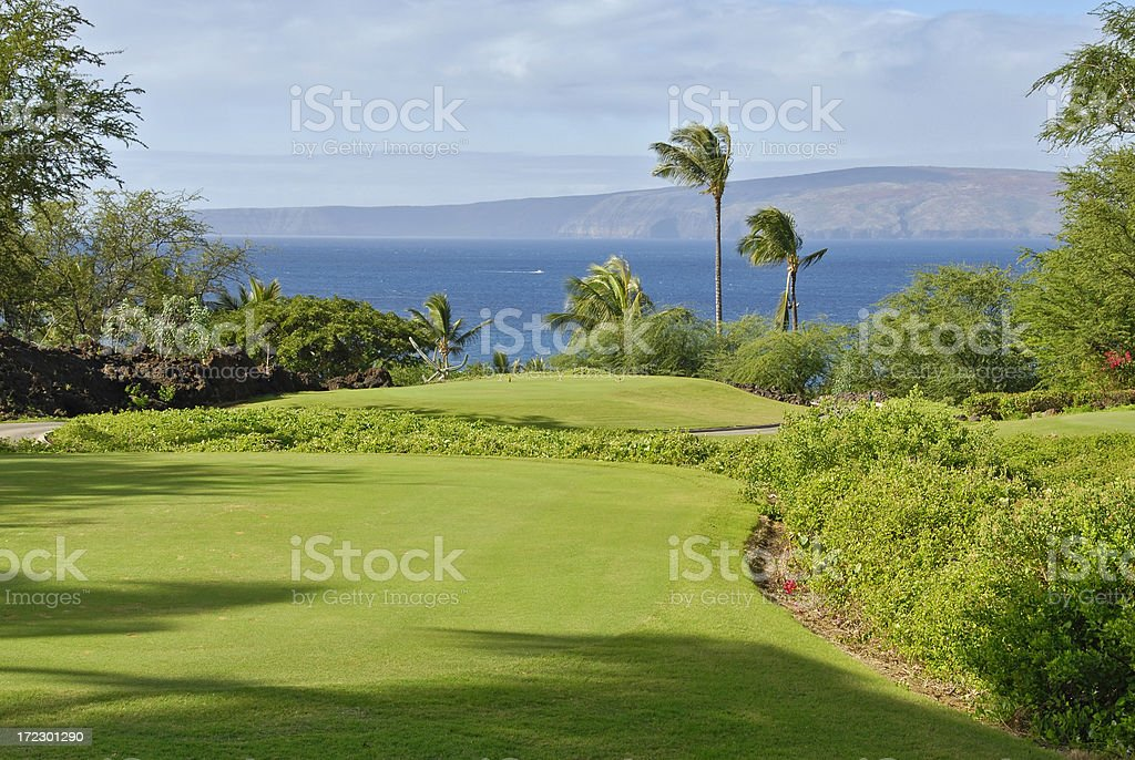 Maui Golf Tee Box royalty-free stock photo