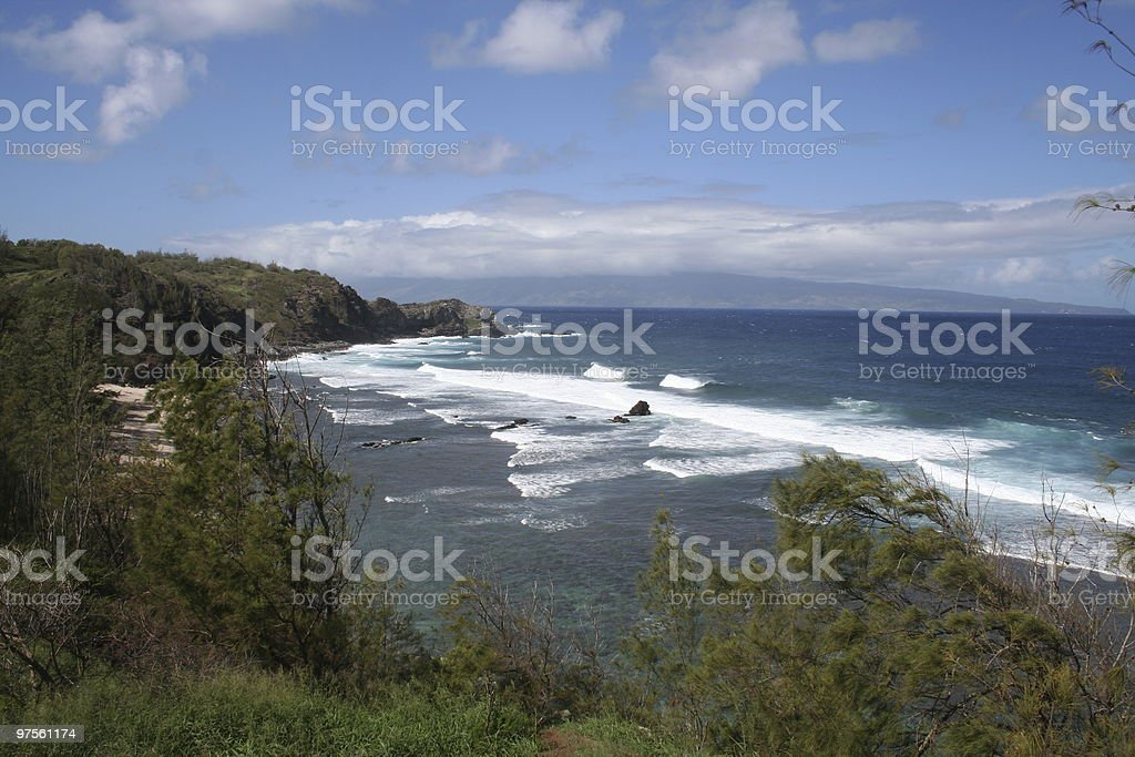La côte de Maui, Hawaï photo libre de droits