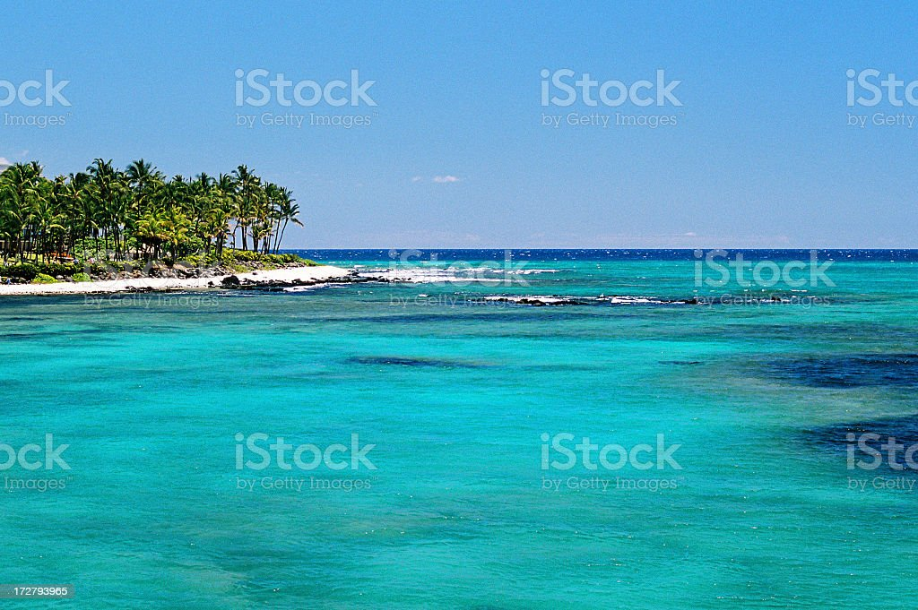 Maui Hawaii Pacific ocean turquoise bay landscape royalty-free stock photo