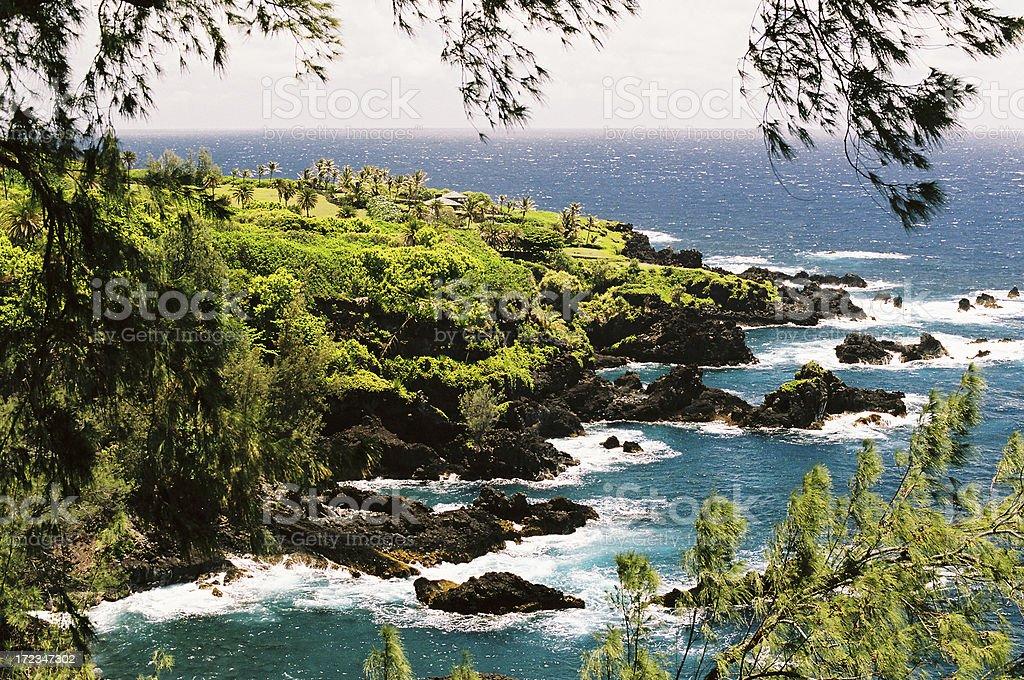 Maui Hawaii tropical coastal scene royalty-free stock photo