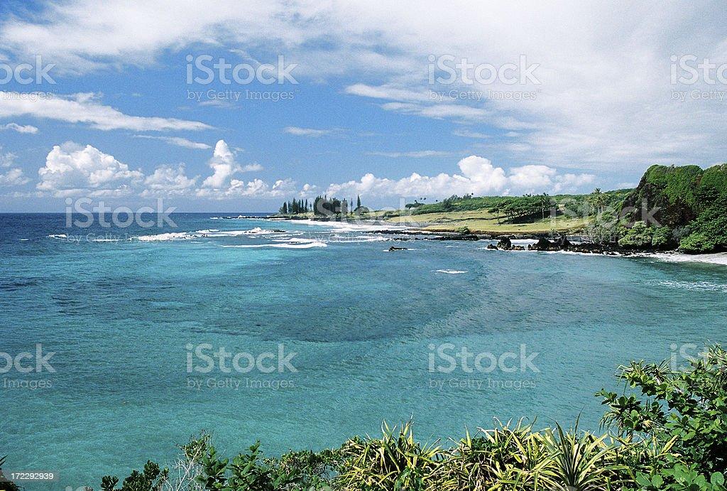 Maui Hawaii turquoise swim snorkel bay stock photo
