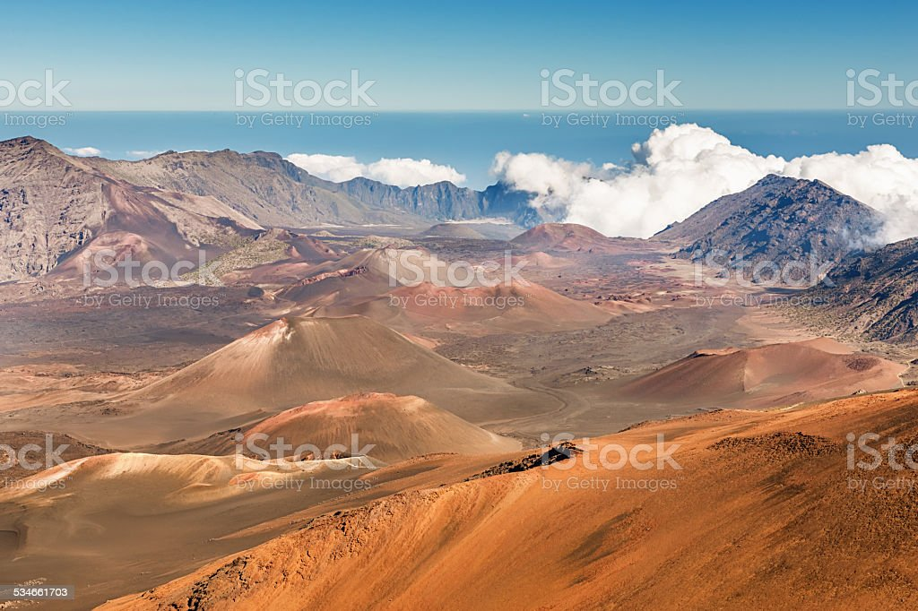 Maui Island Hawaii Haleakala Crater Volcanic Landscape royalty-free stock photo