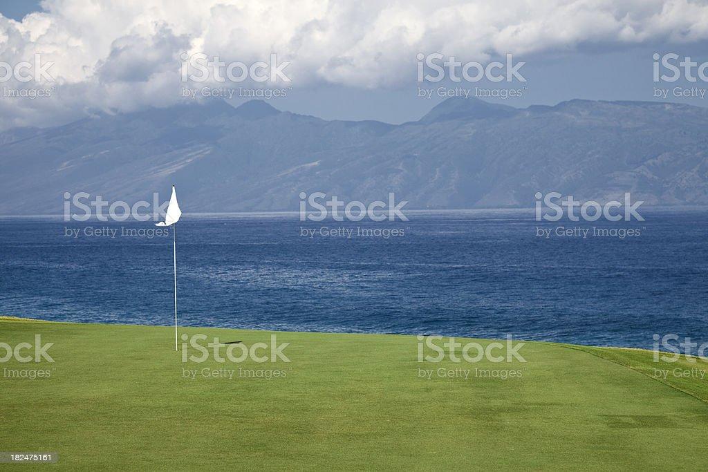 Maui Ocean Golf Course stock photo