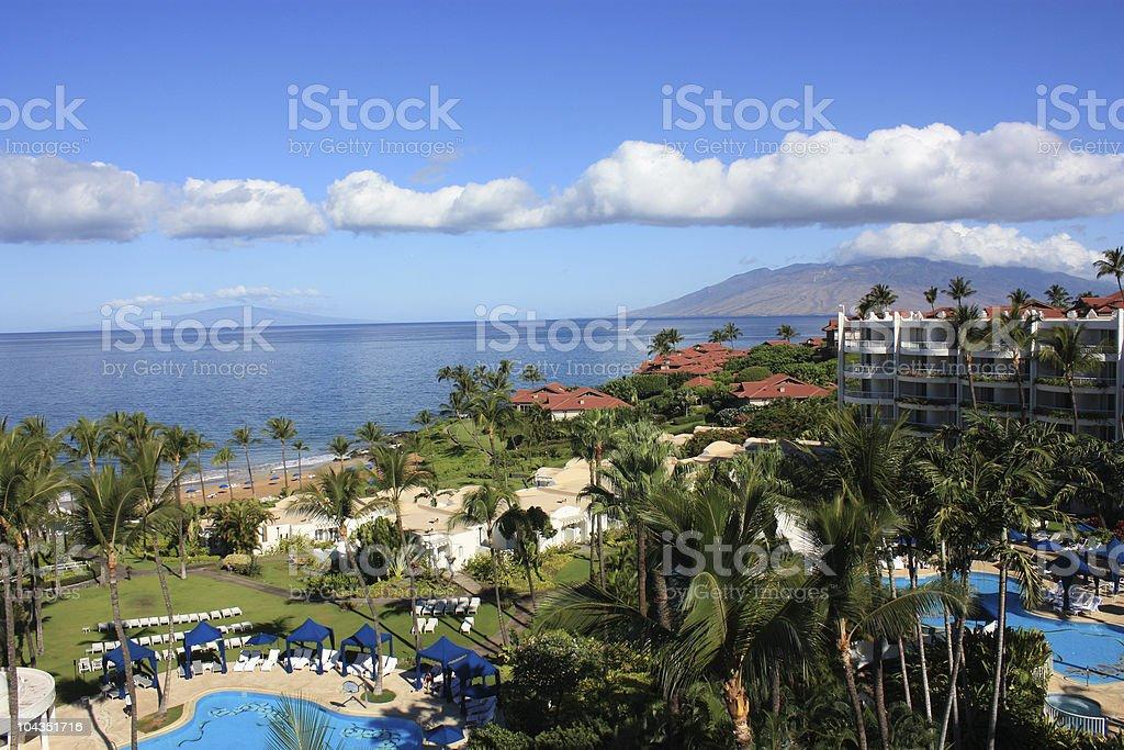 Maui Resort royalty-free stock photo