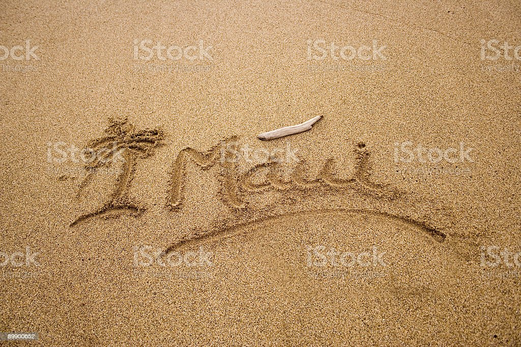 Maui sand royalty-free stock photo