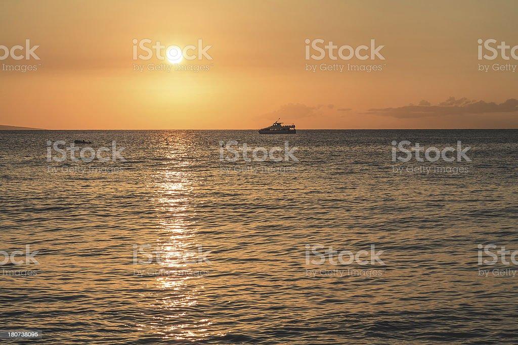 Maui Sunset royalty-free stock photo