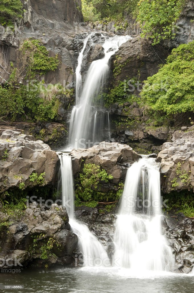 Maui's Seven Sacred Pools royalty-free stock photo