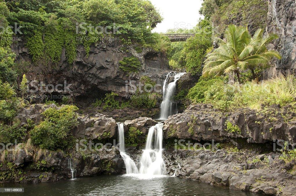 Maui's Seven Sacred Pools royalty-free stock photo
