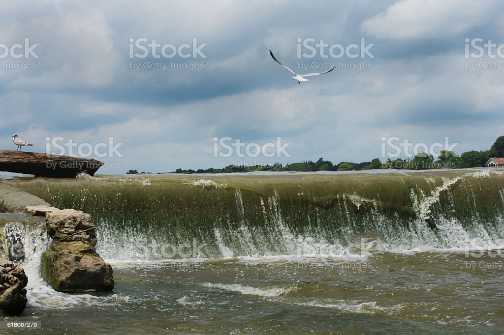 Maumee River Grandrapids, Ohio stock photo