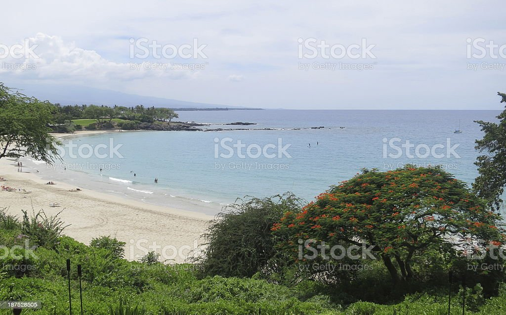 Mauna Kea beach stock photo