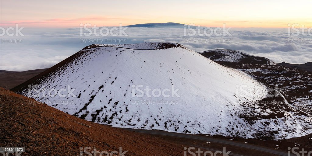 Mauna Kea Crater stock photo