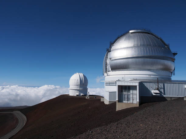 Mauna Kea Observatories on the Big Island of Hawaiʻi, United States stock photo