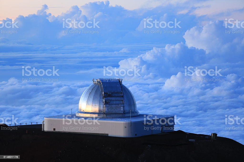 Mauna Kea Observatories royalty-free stock photo