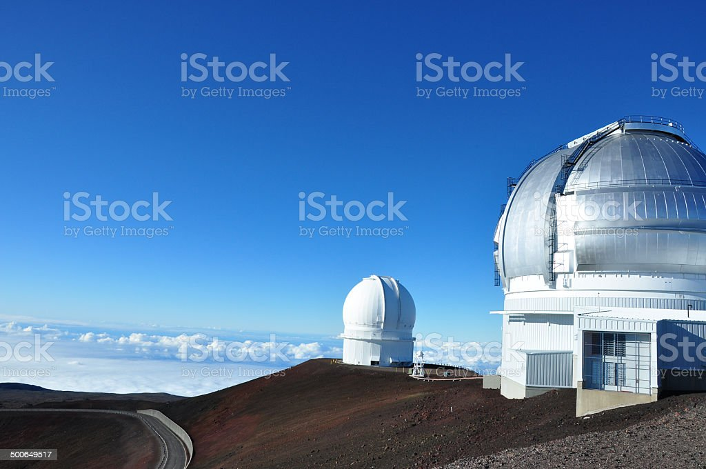Mauna Kea Observatory, Big Island, Hawaii stock photo
