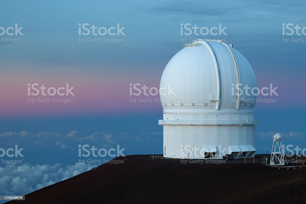 Mauna Kea Observatory stock photo