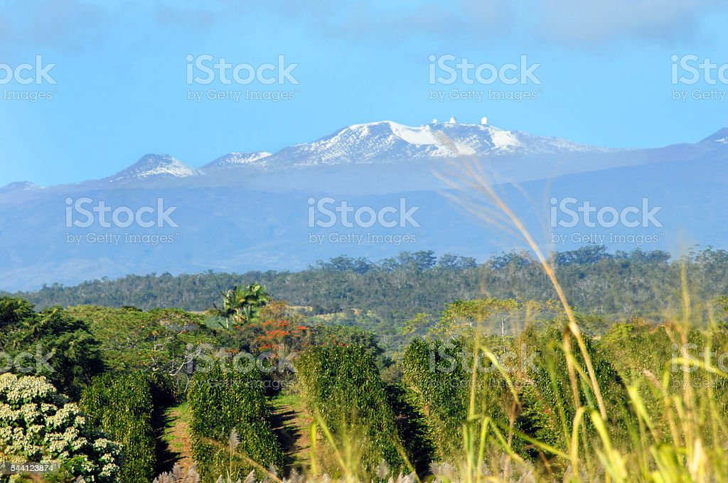 Mauna Kea on clear day stock photo