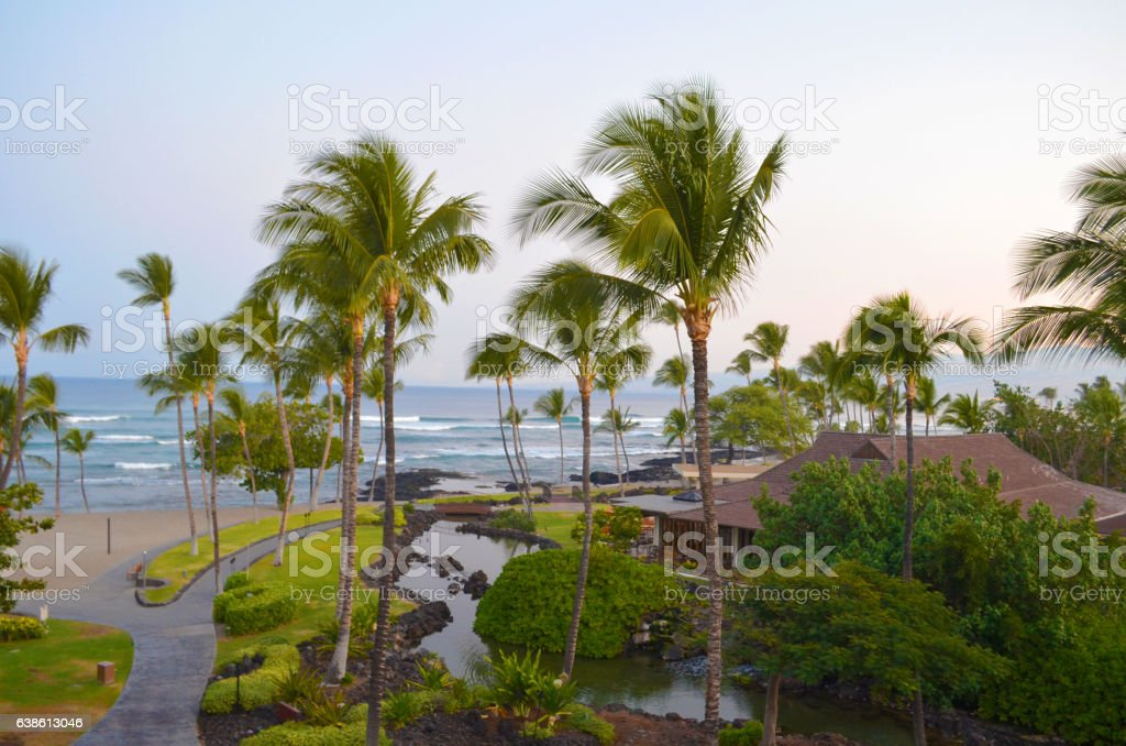 Mauna Kea resort stock photo