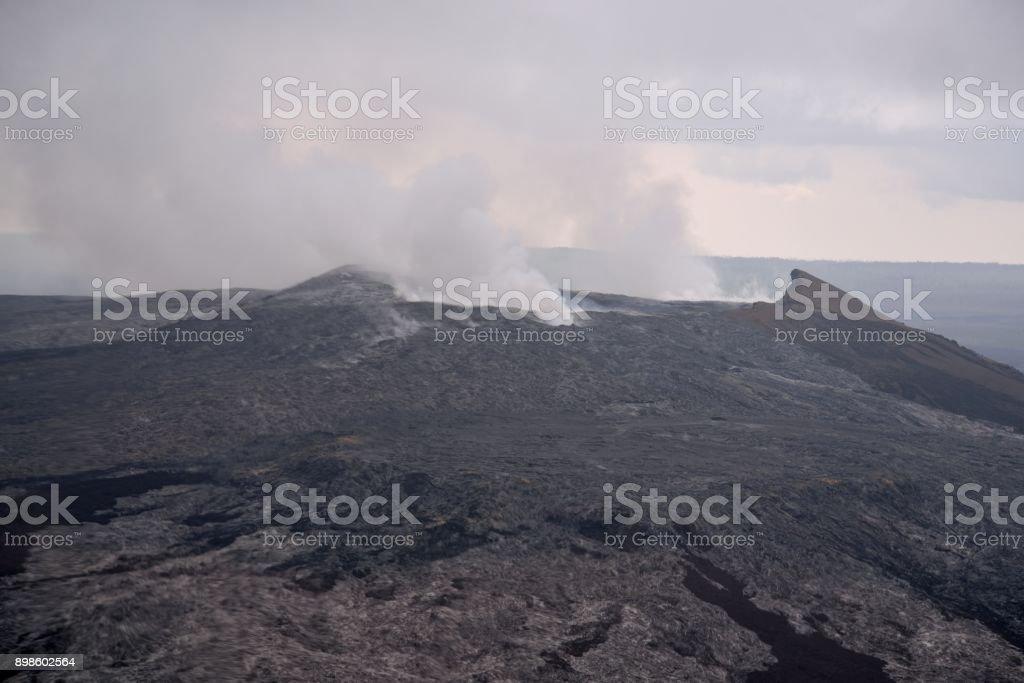 Mauna Kea Volcano Venting stock photo