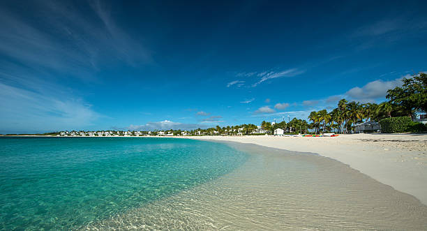 maundays bay, anguilla, english west indies - bay of water stock pictures, royalty-free photos & images