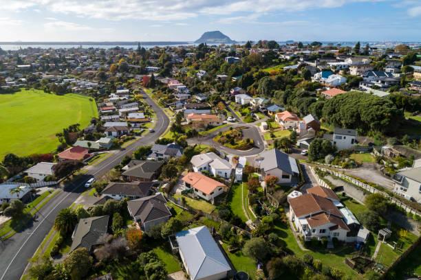 Maungatapu Aerial View stock photo