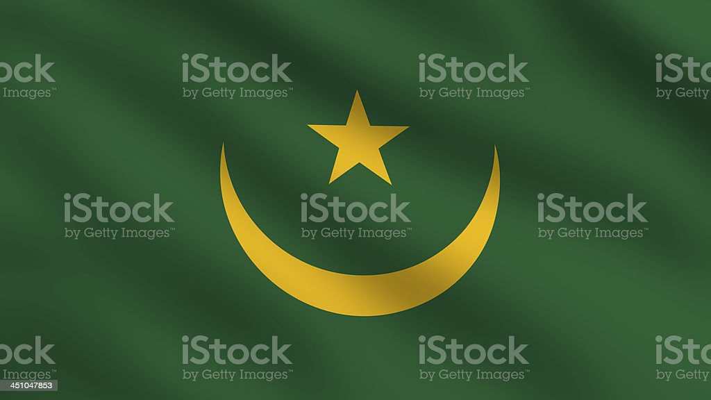Mauritania Flag royalty-free stock photo