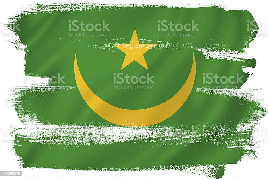 Mauritania flag stock photo