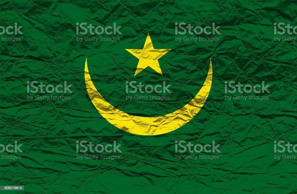 Mauritania flag stock photo