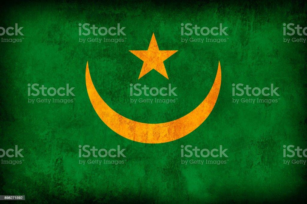 Mauritania Grunge Flag stock photo