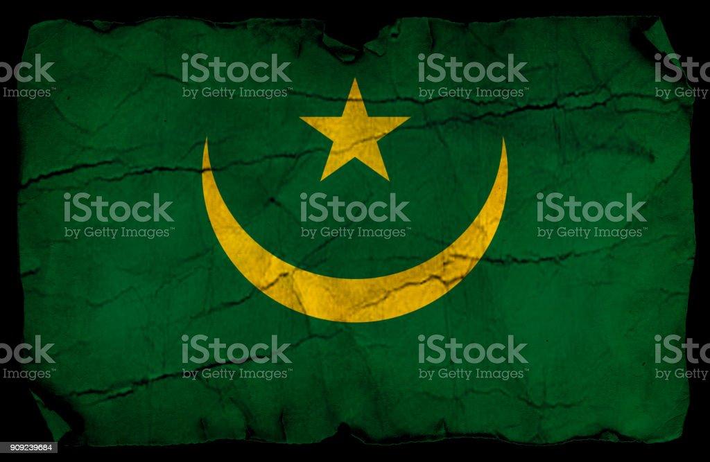 Mauritania old flag stock photo