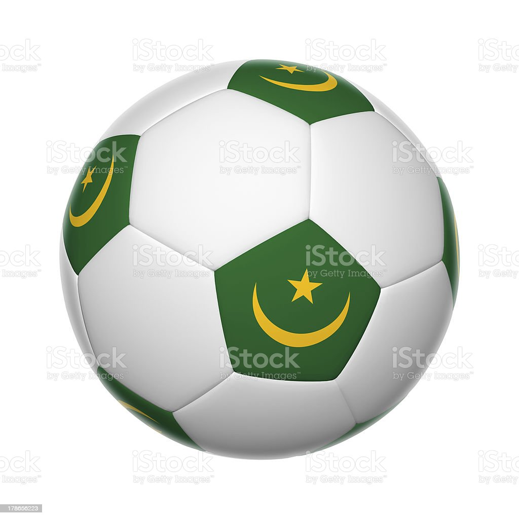 Mauritania soccer ball stock photo