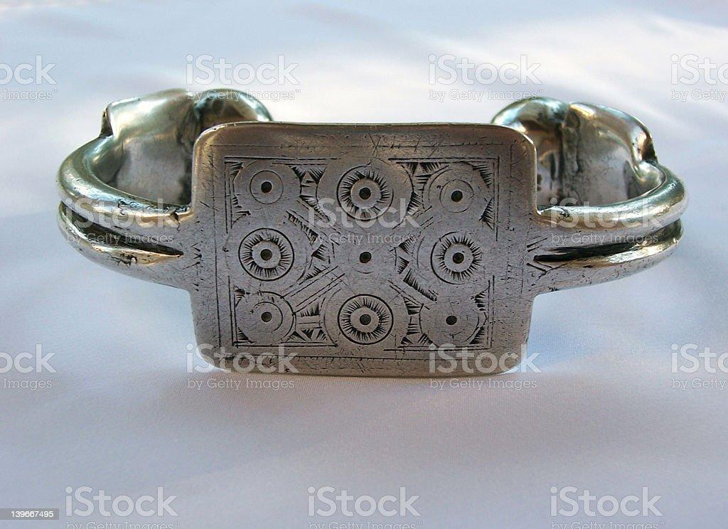 Mauritanian ankle bracelet stock photo