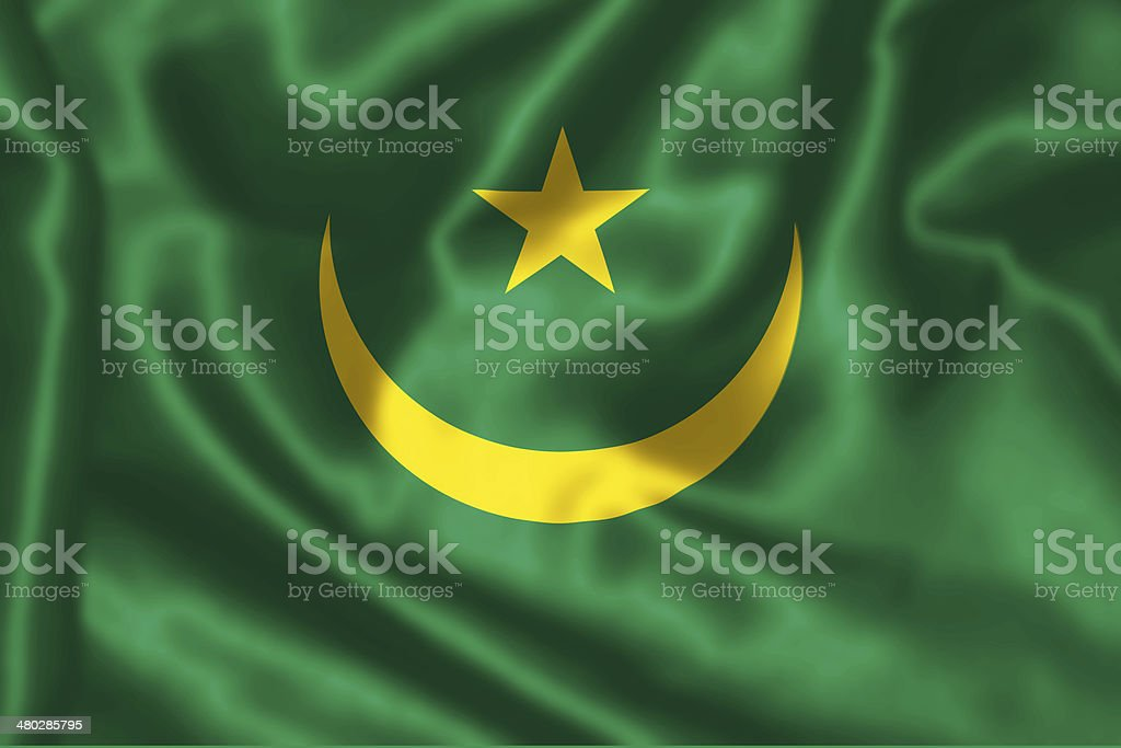 Mauritanian Flag. stock photo