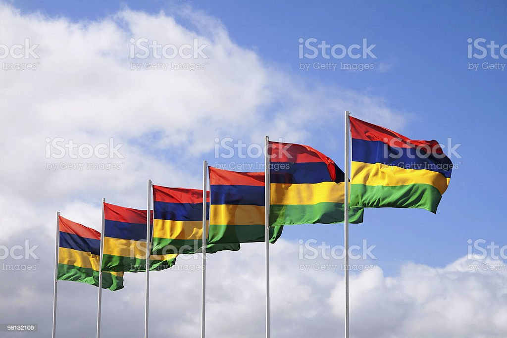 Bandiera delle Mauritius foto stock royalty-free