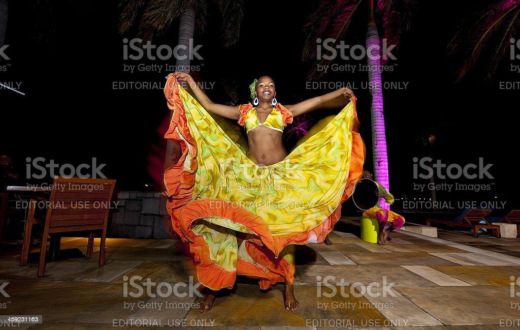 Mauritian Sega dancer stock photo