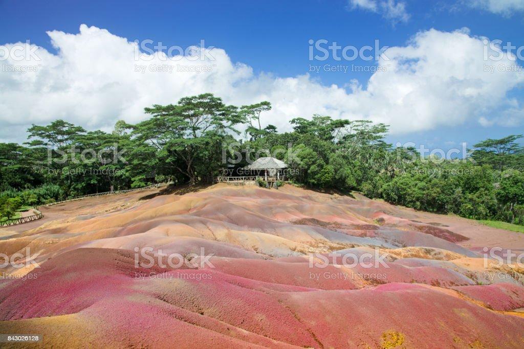Mauritius Island Chamarel Seven Coloured Earths stock photo