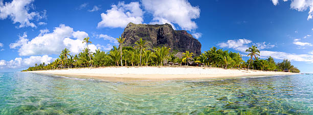Mauritius Island panorama stock photo