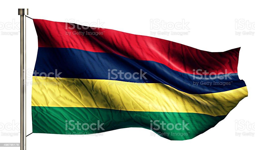 Mauritius National Flag Isolated 3D White Background stock photo