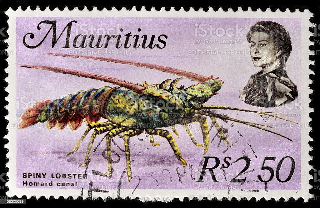 Mauritius Postage Stamp royalty-free stock photo