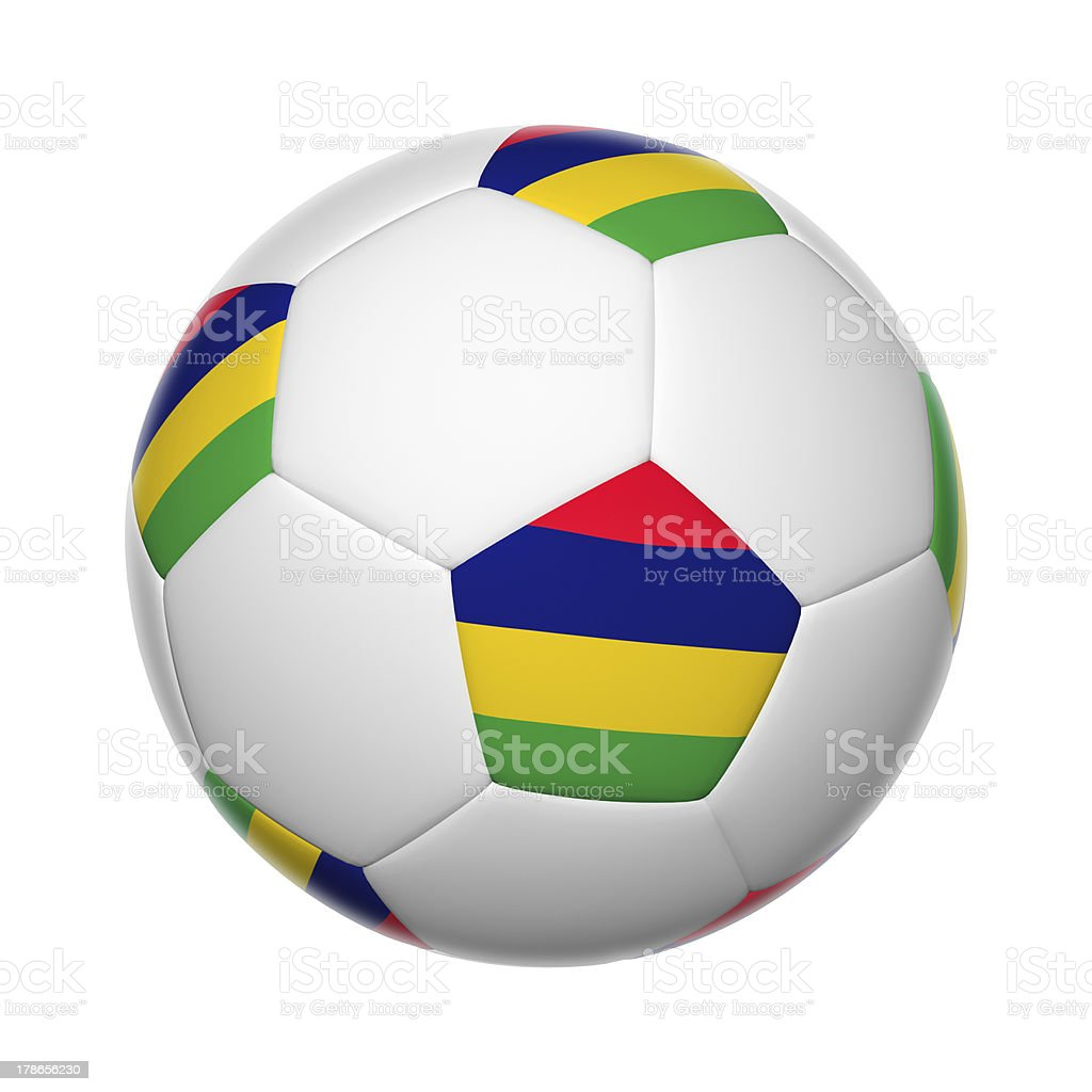 Mauritius soccer ball stock photo