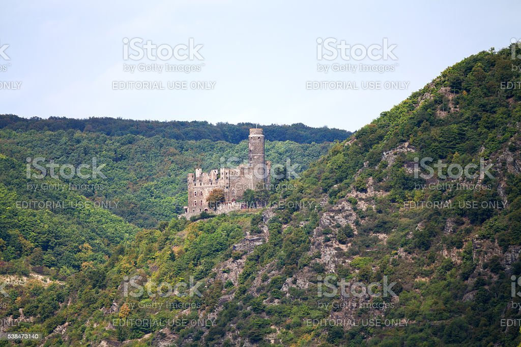 Maus castle at Rhine stock photo