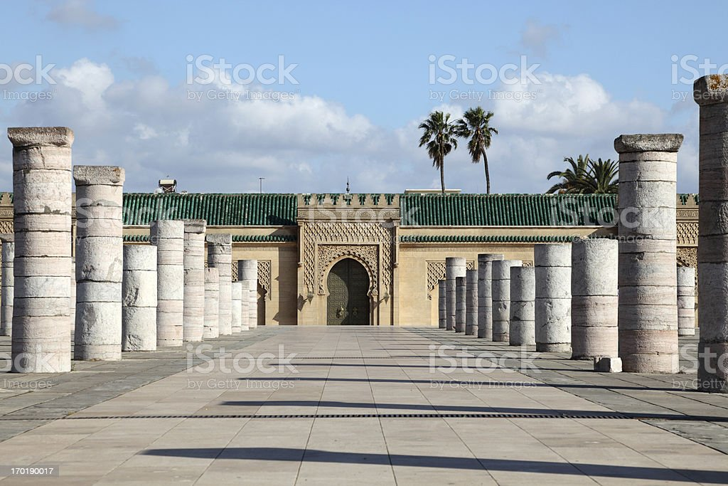 The Mausoleum of Mohammed V in Rabat, Morocco