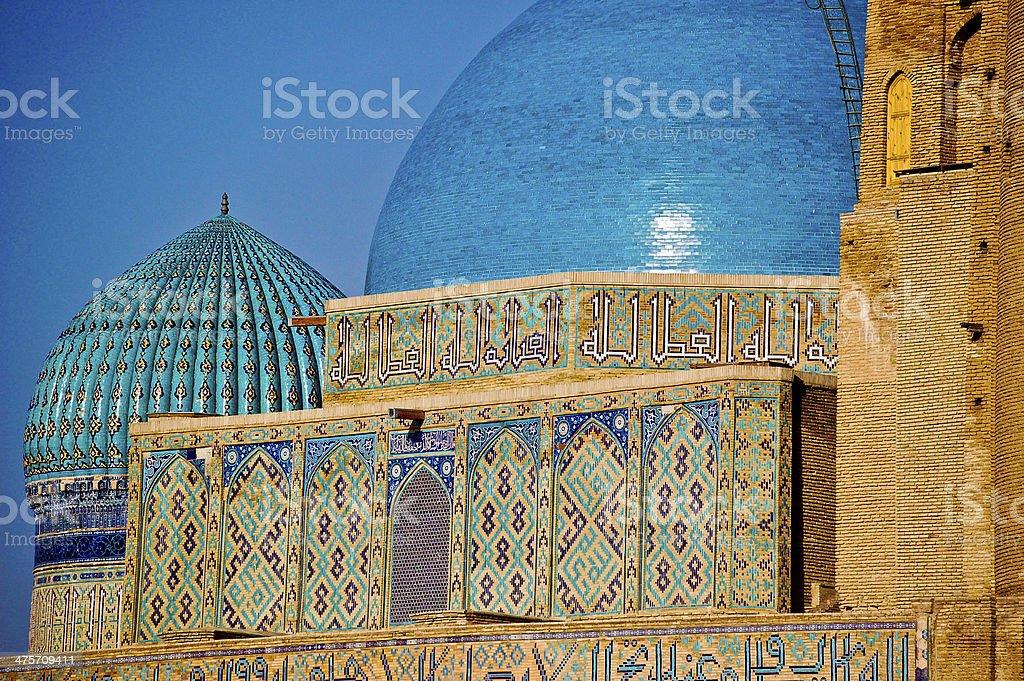 Mausoleum - Kazakhstan stock photo