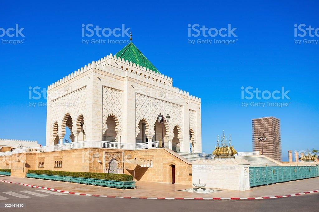 Mausoleum Mohammed V stock photo