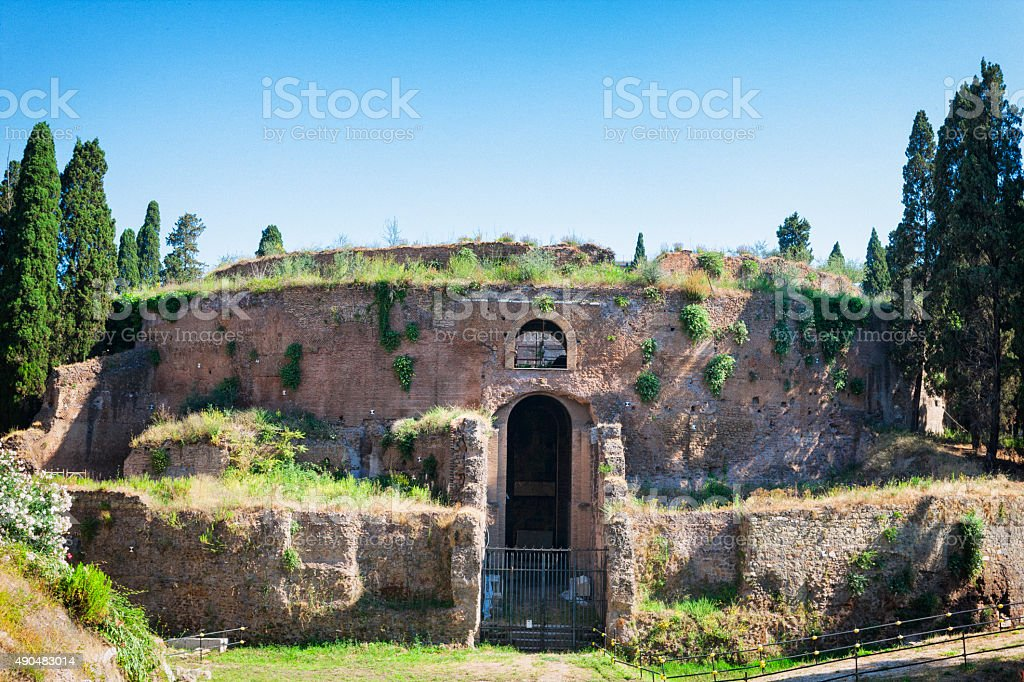 Mausoleum of Augustus in Rome, Italy stock photo
