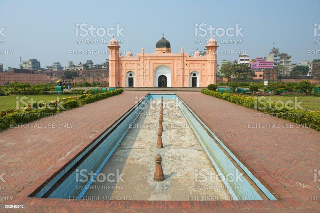 Mausoleum of Bibipari in Lalbagh fort, Dhaka, Bangladesh. stock photo