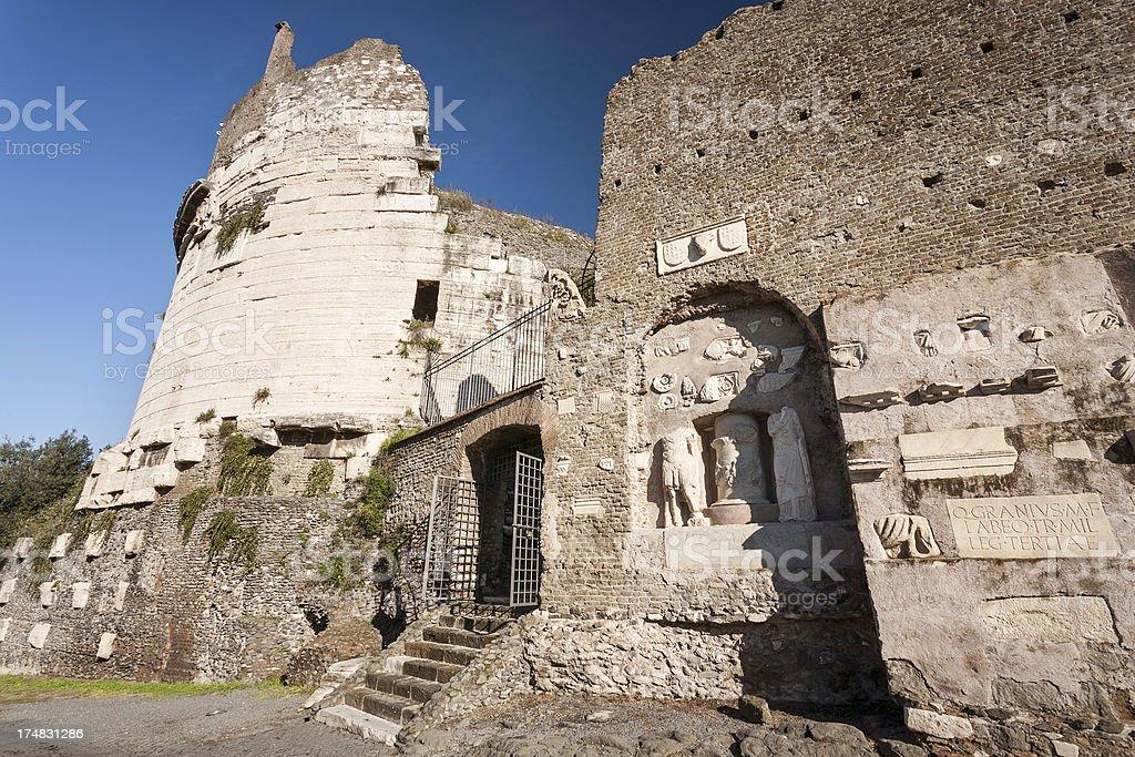 Mausoleum of Caecilia Metella on the Appian way royalty-free stock photo