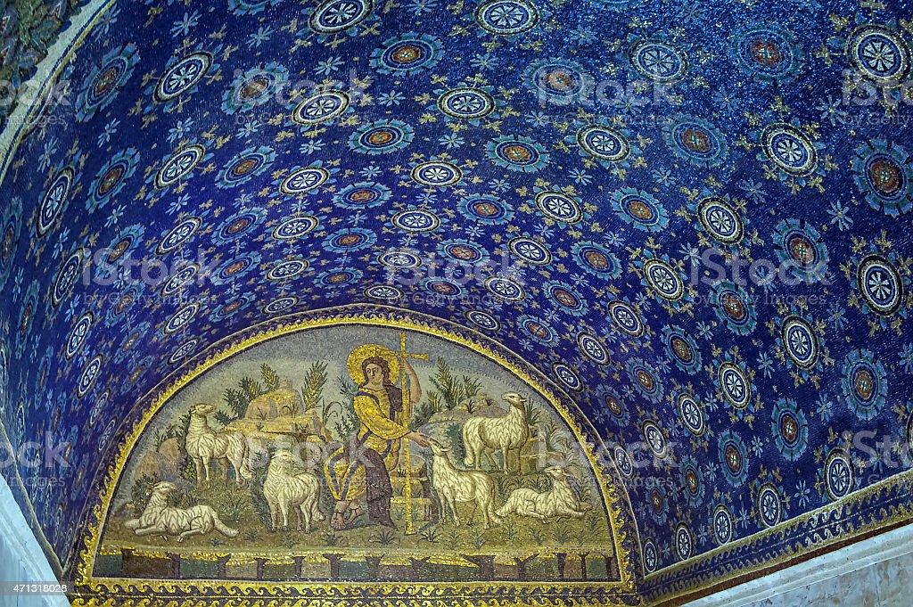 Mausoleum of Galla Placidia, Ravenna, Italy stock photo